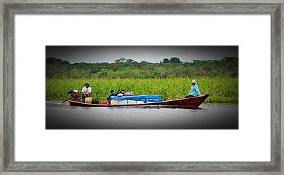 Framed Print featuring the photograph Amazon Travel by Henry Kowalski