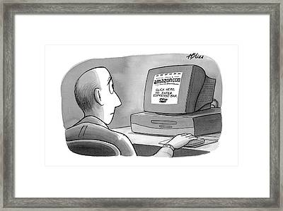 'amazon.com Click Here To Enter Espresso Bar' Framed Print