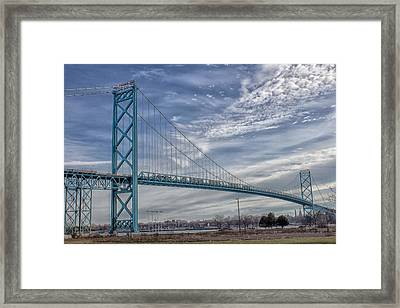 Ambassador Bridge From Detroit Mi To Windsor Canada Framed Print by Peter Ciro