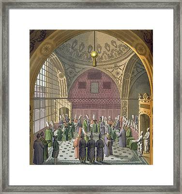 Ambassadors In The Audience Hall Framed Print by Italian School