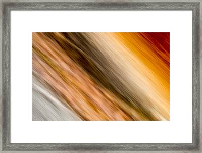 Amber Diagonal Framed Print
