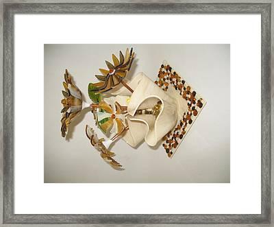 Amber Flowers Framed Print by Steven Schramek