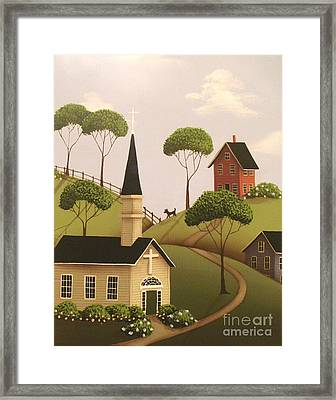 Amber Hills Framed Print by Catherine Holman