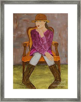 Framed Print featuring the painting Lucy by Jane Chesnut