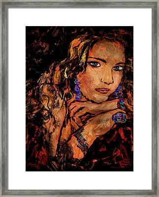 Amber Framed Print by Natalie Holland