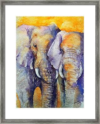 Amber Skies Framed Print