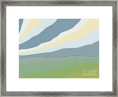 Ambiguous Landmass Framed Print