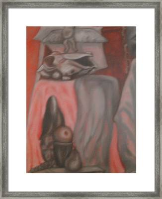 Framed Print featuring the painting Ambiguous by Thomasina Durkay