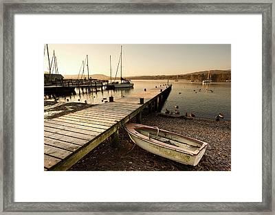 Ambleside, Cumbria, England  Harbor Framed Print by John Short