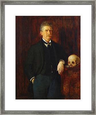 Ambrose Bierce Framed Print by John Herbert Evelyn Partington