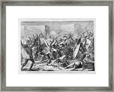 Ambush At River Intombi Framed Print