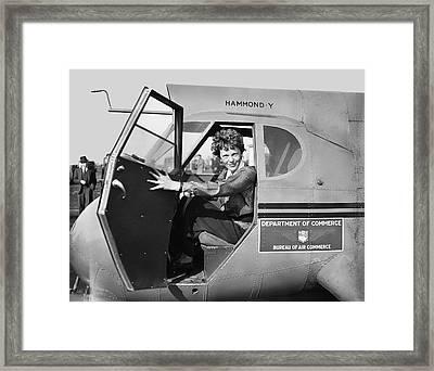 Amelia Earhart - 1936 Framed Print
