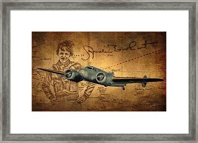 Amelia Earhart Framed Print by Dale Jackson