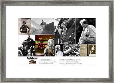 Amelia Earhart Framed Print by Don Struke