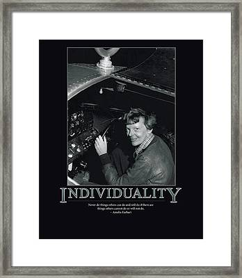 Amelia Earhart Individuality  Framed Print by Retro Images Archive