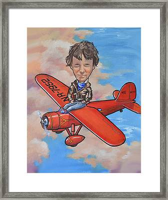 Amelia Earhart Framed Print by Murray McLeod