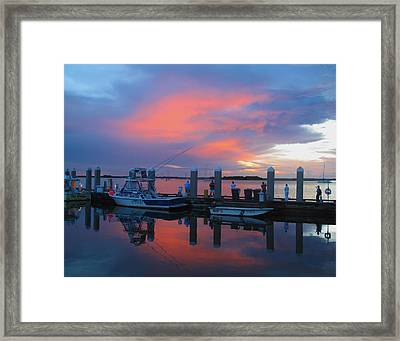 Framed Print featuring the photograph Amelia's Marina by Paula Porterfield-Izzo