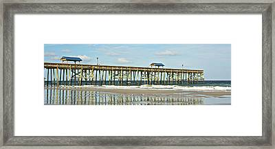 Framed Print featuring the photograph Amelia's Pier by Paula Porterfield-Izzo