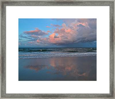 Amelia's Sunset Framed Print by Paula Porterfield-Izzo