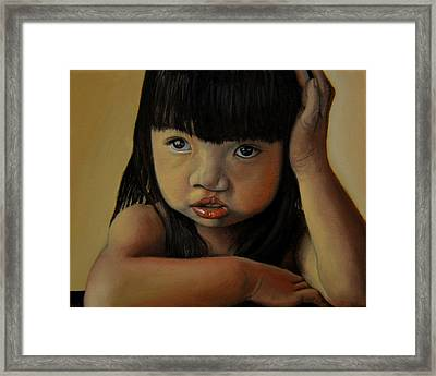 Amelie-an 3 Framed Print by Thu Nguyen