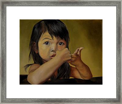 Amelie-an 9 Framed Print by Thu Nguyen