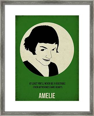 Amelie Poster Framed Print by Naxart Studio