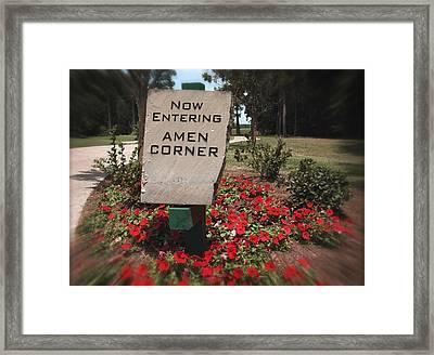 Amen Corner - A Golfers Dream Framed Print by Ella Kaye Dickey