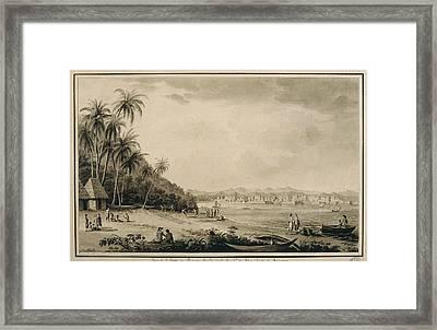 America 18th C.. Panama. View Framed Print