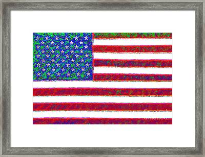 America - 20130122 Framed Print by Wingsdomain Art and Photography