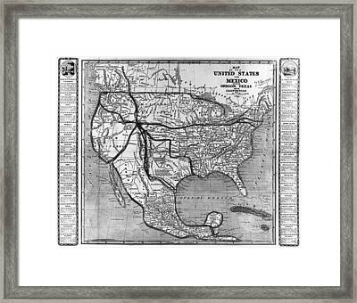 America And Mexico, 1846 Framed Print