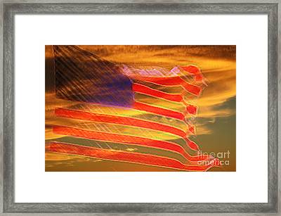 America Distress Framed Print by Beverly Guilliams