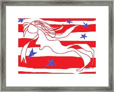 America Free Falling  Framed Print by Anita Dale Livaditis