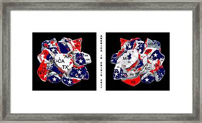 America In Crisis 2012 Framed Print by Bruce Iorio