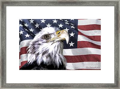Framed Print featuring the photograph America by Linda Blair