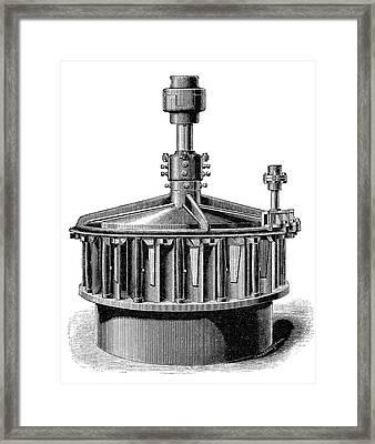 'america' Mccormick Turbine Framed Print by Science Photo Library