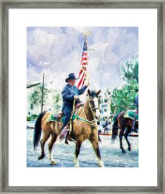 America On Parade Framed Print by Ike Krieger