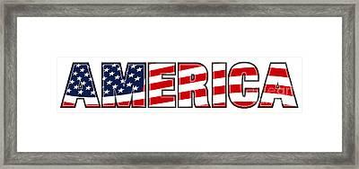 America Stars And Stripes Framed Print
