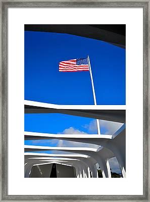 America Strong Framed Print