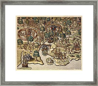 America Tertia Pars, 1562. Methods Framed Print by Everett