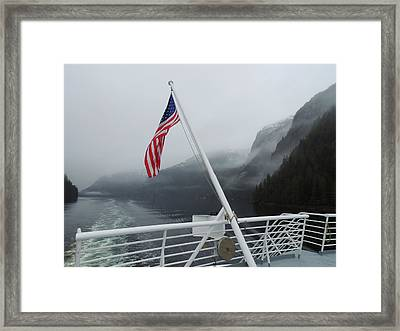 America The Beautiful Framed Print by Karen Horn