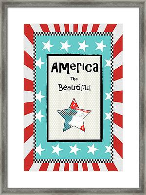 America The Beautiful Framed Print by Sarah Ogren