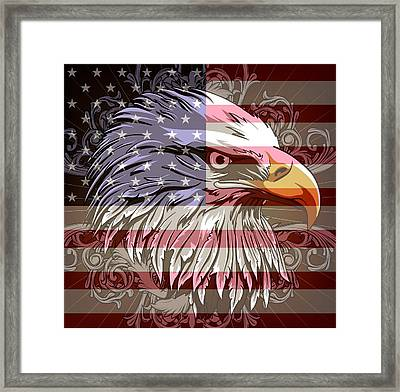 Framed Print featuring the digital art America The Beautiful by Stanley Mathis