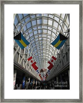 America Welcomes You. Chicago O Hare International Airport. Framed Print by Ausra Huntington nee Paulauskaite