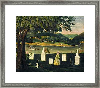 American 19th Century, Family Burying Ground Framed Print by Quint Lox