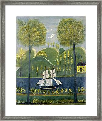 American 19th Century, Under Full Sail, Second Quarter 19th Framed Print by Quint Lox