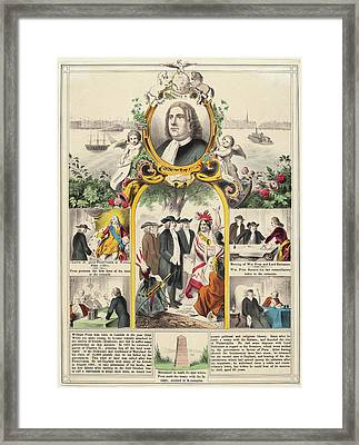 American 19th Century, William Penns History Framed Print