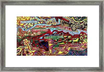 American Abstarct Framed Print
