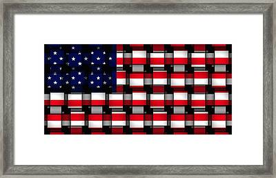 American Abstract Framed Print by L Brown