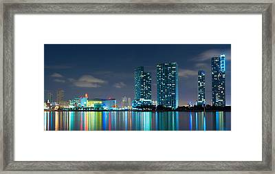 American Airlines Arena And Condominiums Framed Print