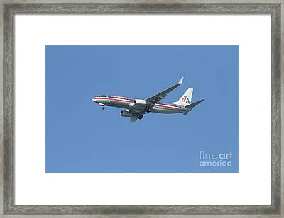 American Airlines Jet 7d21917 Framed Print by Wingsdomain Art and Photography